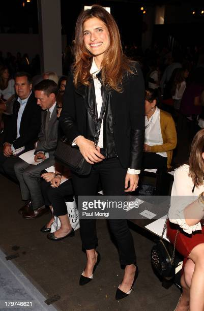 Lake Bell attends the Rag & Bone Women's Collection show during Spring 2014 Mercedes-Benz Fashion Week at Skylight at Moynihan Station on September...