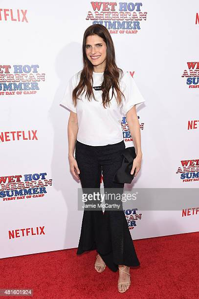 Lake Bell attends the Wet Hot American Summer First Day of Camp Series Premiere at SVA Theater on July 22 2015 in New York City