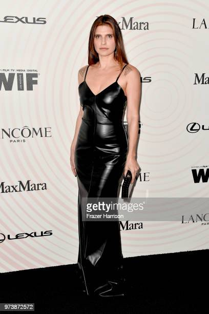 Lake Bell attends the Women In Film 2018 Crystal Lucy Awards presented by Max Mara Lancôme and Lexus at The Beverly Hilton Hotel on June 13 2018 in...