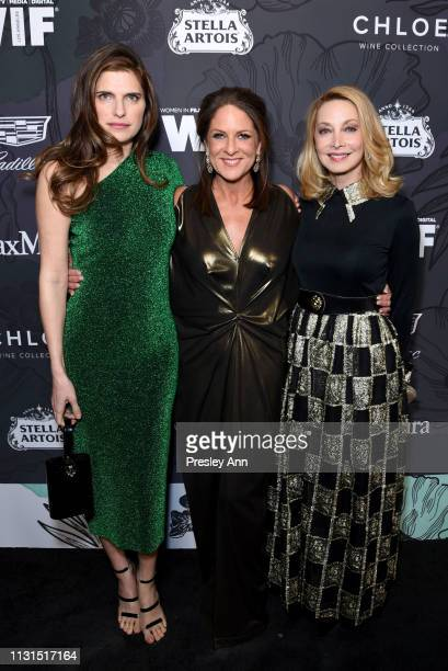 Lake Bell, Cathy Schulman and Sharon Lawrence attend the 12th Annual Women in Film Oscar Nominees Party Presented by Max Mara with additional support...