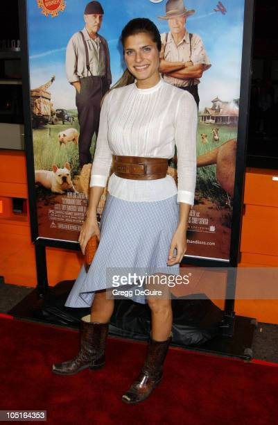 Lake Bell during 'Secondhand Lions' Premiere at Mann National Theatre in Westwood California United States