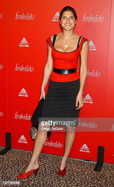 Lake Bell during Smashbox Fashion Week Los Angeles Frederick's of Hollywood Fashion Show Fall 2003 Collection to benefit Expedition Inspiration...