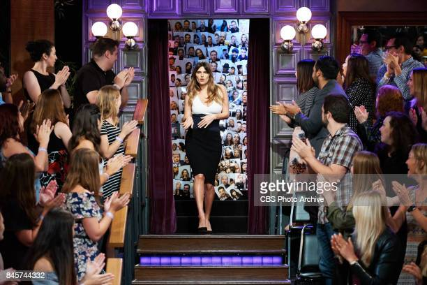 Lake Bell greets the audience during 'The Late Late Show with James Corden' Thursday September 7 2017 On The CBS Television Network
