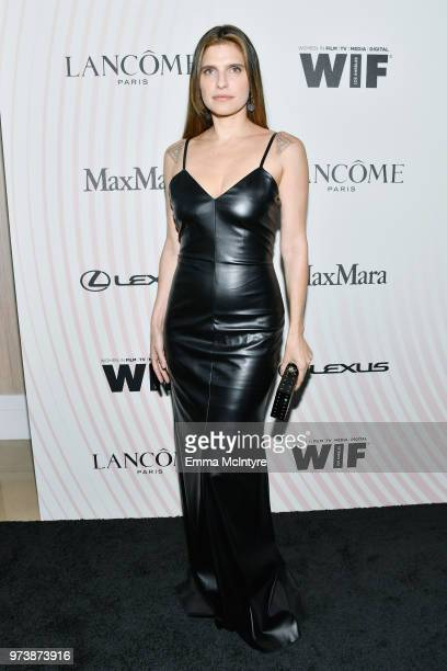 Lake Bell wearing Max Mara attends the Women In Film 2018 Crystal Lucy Awards presented by Max Mara Lancôme and Lexus at The Beverly Hilton Hotel on...