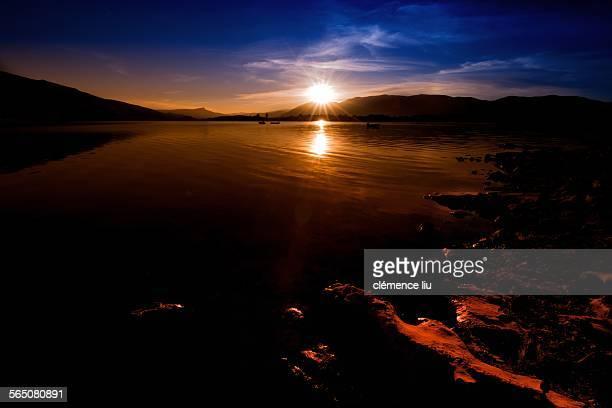 Lake Bin El Ouidane dawn, Morocco