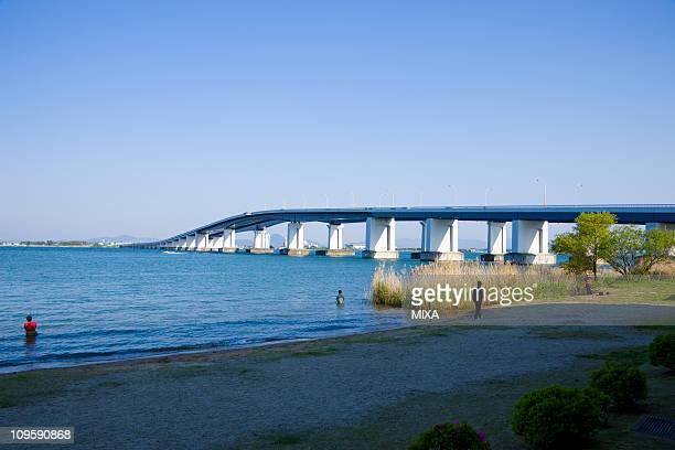Lake Biwa Bridge, Otsu, Shiga, Japan