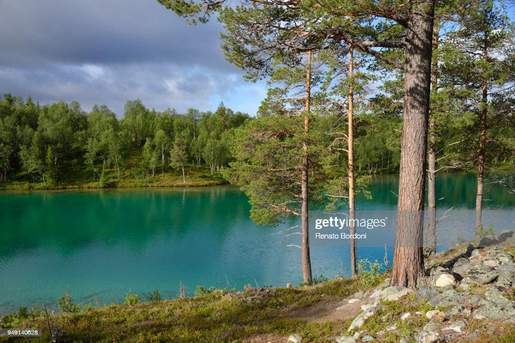 Lake Blanktjaern, Valadalen, Jaemtland County, Sweden : Stock Photo