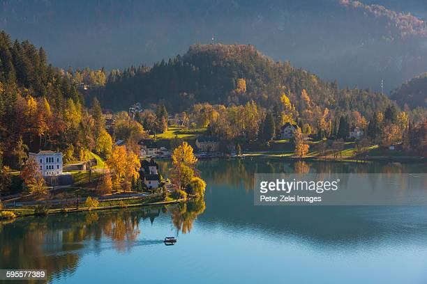 Lake Bled in Slovenia in the autumn