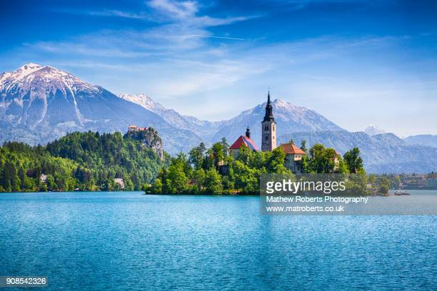 lake bled - slovenia stock pictures, royalty-free photos & images