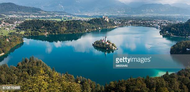 lake bled, slovenia - slovenia stock pictures, royalty-free photos & images