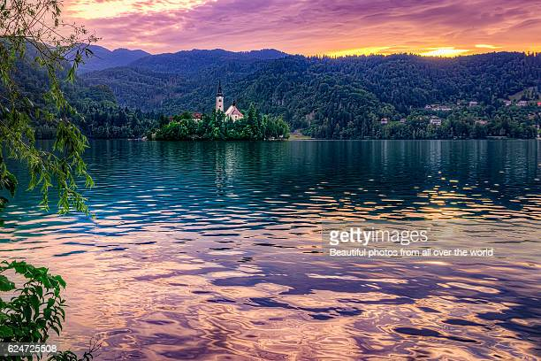 Lake Bled sunset