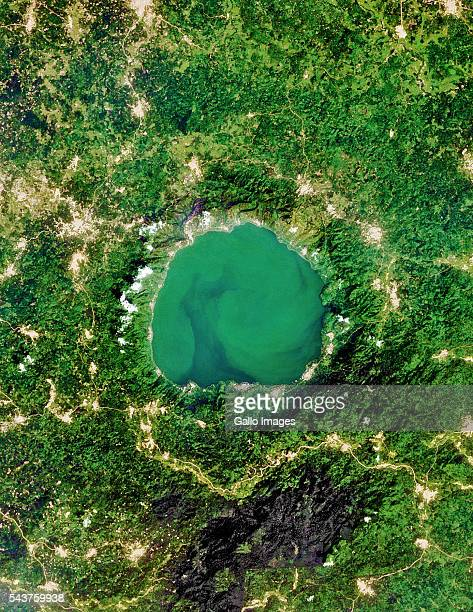 Lake Bosumtwi located in Ghana Africa on December 26 2014 The lake is situated inside a meteorite impact crater southeast of Kumasi