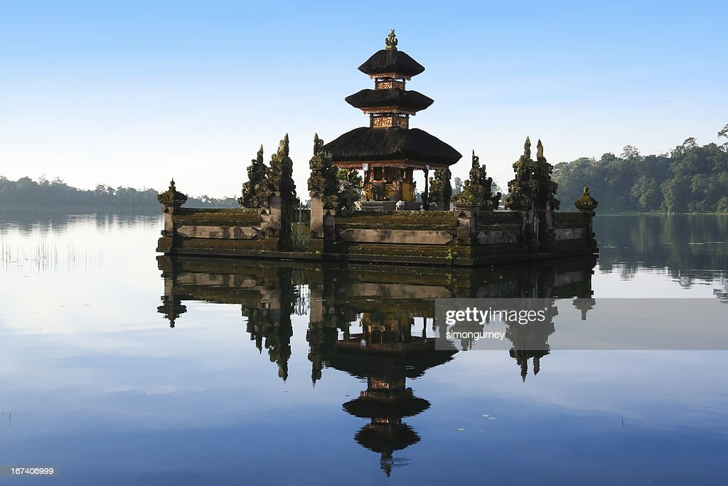 lake Bratan hindu temple bali indonesia : Stock Photo