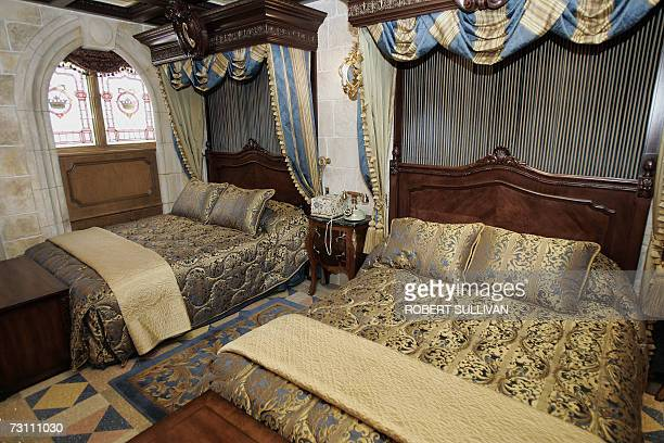 An interior view of the royal suite inside Cinderella's Castle at Walt Disney World 25 January 2007 in Lake Buena Vista Florida Each night a randomly...