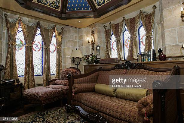 An interior view of the sitting room in the royal suite inside Cinderella's Castle at Walt Disney World 25 January 2007 in Lake Buena Vista Florida...