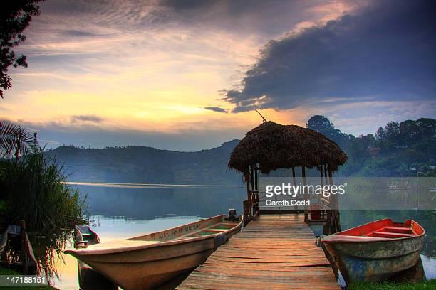 lake bunyonyi - uganda stock pictures, royalty-free photos & images