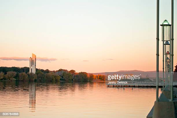 Lake Burley Griffin, Canberra, at sunset