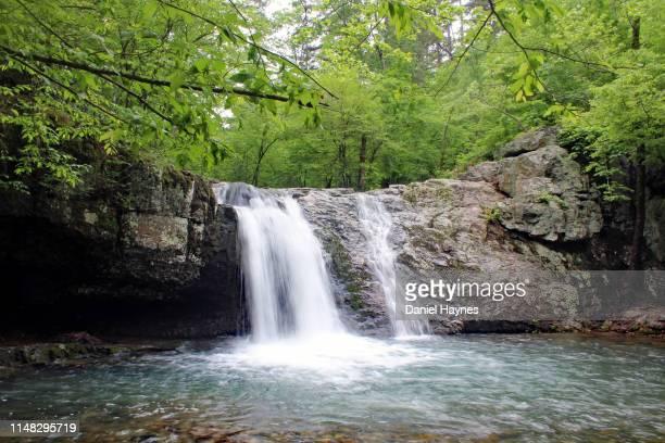 lake catherine waterfalls, arkansas - arkansas fotografías e imágenes de stock