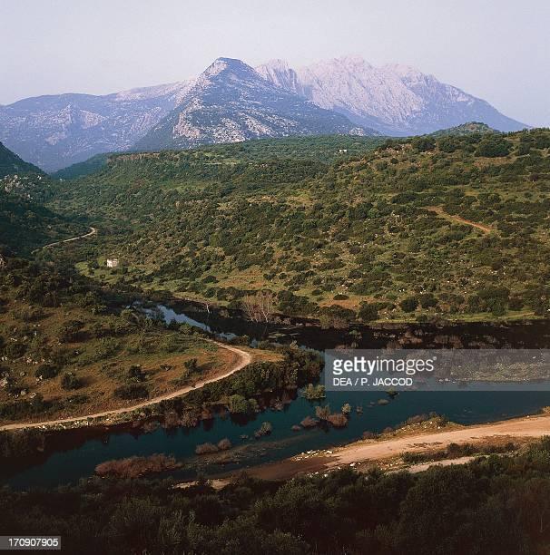 Lake Cedrino reservoir Supramonte of Dorgali National Park of the Bay of Orosei and Gennargentu Sardinia Italy