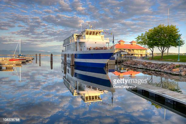 lake champlainin burlington, vermont - burlington vermont stock photos and pictures