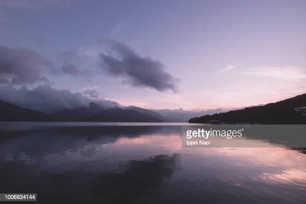 Lake Chuzenji at twilight, Nikko National Park, Japan