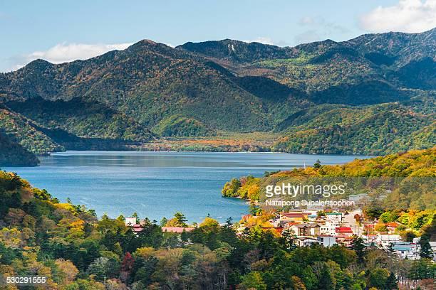 lake chuzenji - nikko city stock pictures, royalty-free photos & images