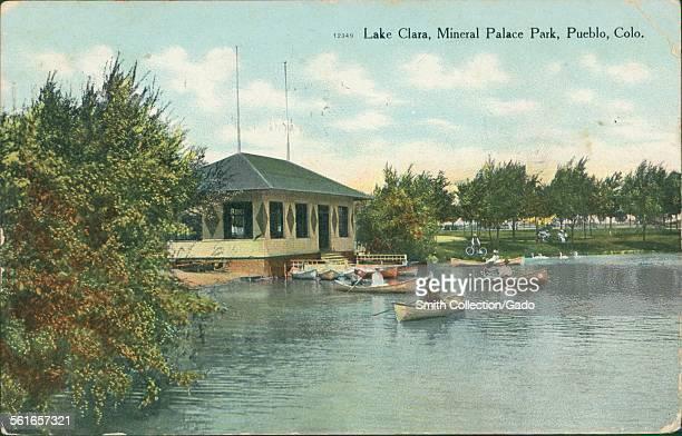 Lake Clara, Mineral Palace Park, Pueblo, Colorado, 1906.