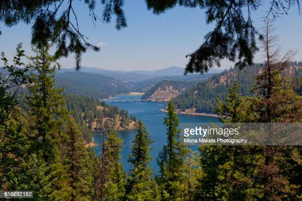 lake coeur d'alene, idaho - idaho stock pictures, royalty-free photos & images