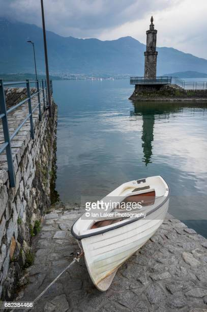 lake como from gera lario, lombardy, italy - gera marina stock photos and pictures