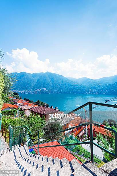 Lake Como, view from Carate Urio, Italy