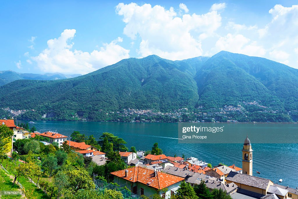 Lake Como, view from Carate Urio : Stock Photo