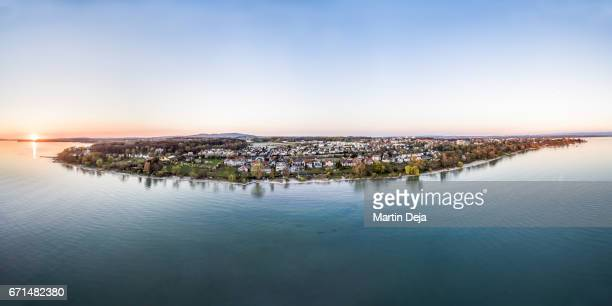 Lake Constance Sunset Aerial View HDR Panorama