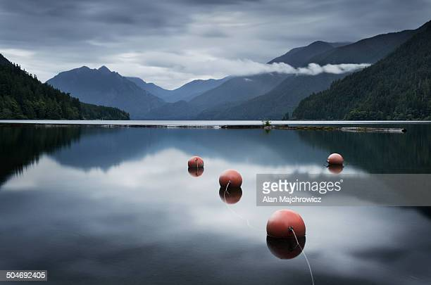 lake crescent olympic national park - buoy stock photos and pictures