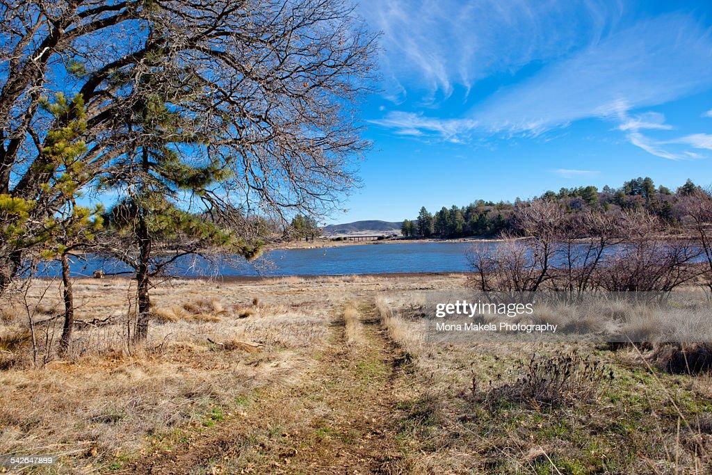 Lake Cuyamaca in winter : Stock Photo