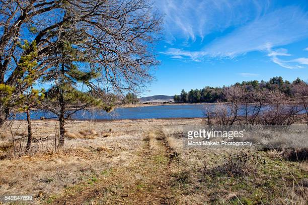 lake cuyamaca in winter - julian california stock photos and pictures