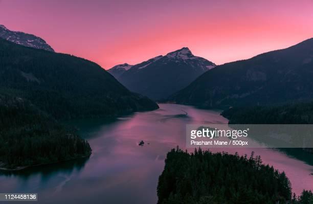 lake diablo washington - diablo lake - fotografias e filmes do acervo
