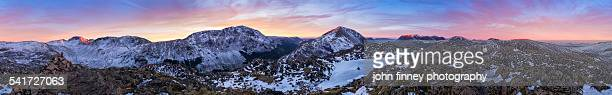Lake District mountain sunset 360 degree panoramic