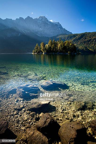 Lake Eibsee and Mount Zugspitze