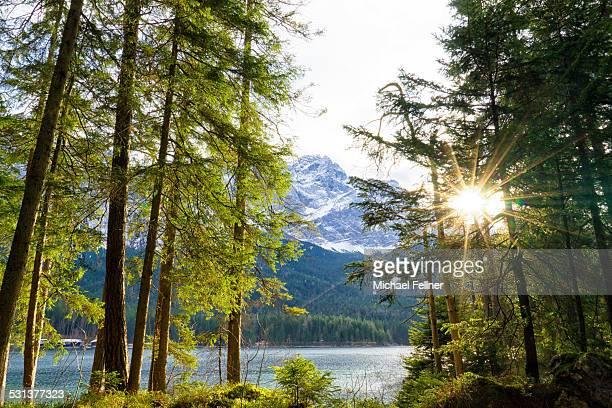 Lake Eibsee and Zugspitze