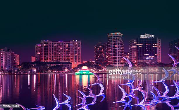 Lake Eola by night, Orlando Florida.