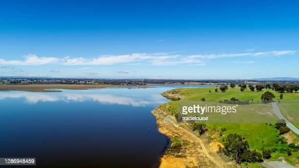 lake eppalock aerial - bendigo stock pictures, royalty-free photos & images