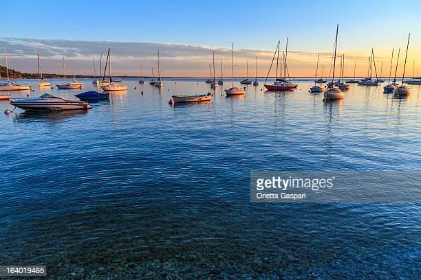 Lago di Garda, Italia al tramonto