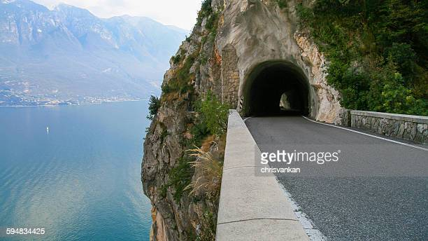 Lake Garda mountain road, Tremosine, Lombardy, Italy