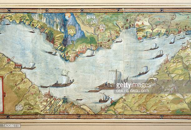 Lake Geneva by Jean du Villard 1588 Plate