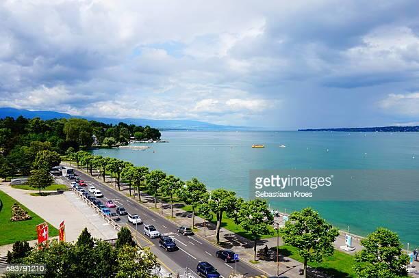 Lake Geneva in the Summer Sunshine, Switzerland