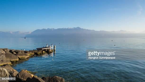 Lake Geneva, Vevey, Switzerland.