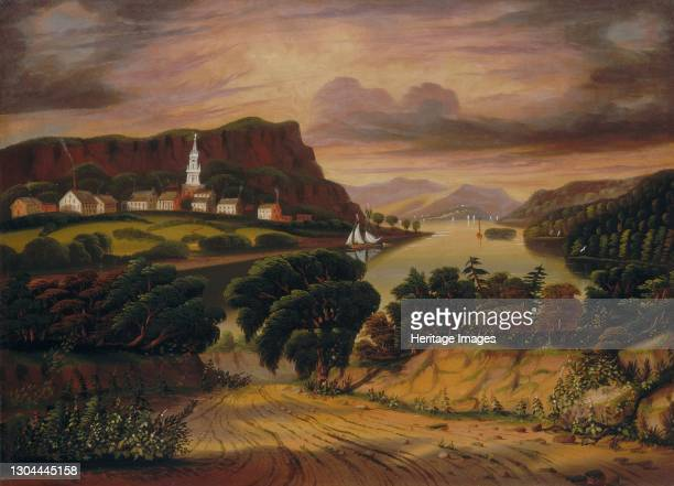 Lake George and the Village of Caldwell, mid 19th century. Artist Thomas Chambers.