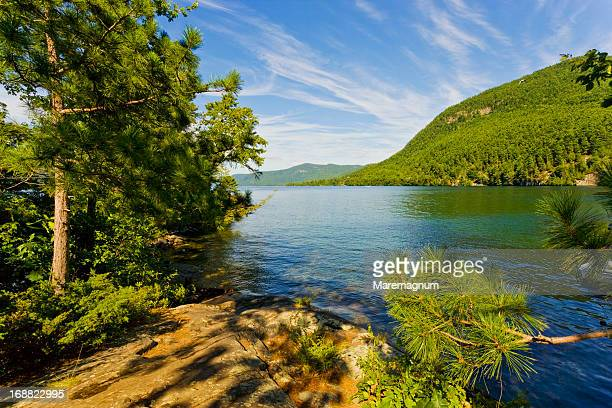 lake george, landscape - lake george new york stock pictures, royalty-free photos & images