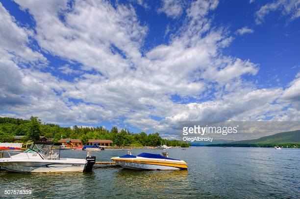 lake george, ny. - lake george new york stock pictures, royalty-free photos & images