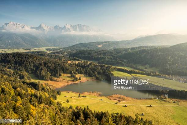 Lake Geroldsee and Karwendel mountain range